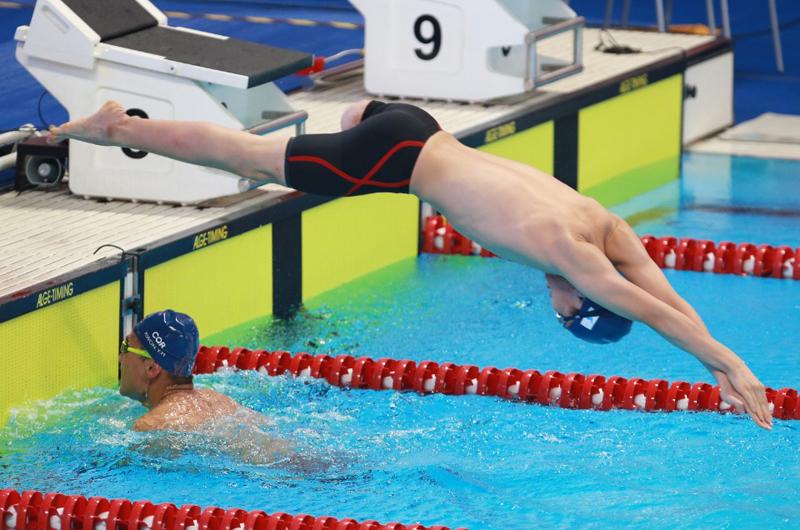 아시안게임 사상 첫 단일팀 수영, 3위에 올라